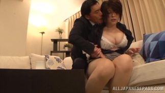 Sinful breasty diva Rin Ogawa and male are about to have sex