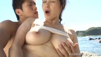 Delectable bosomed woman Yuuko Kuremachi and pal are having sex in front of the camera