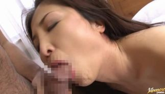 Appetizing bosomed slut Chisa Kirishima seduces a dude with her smile