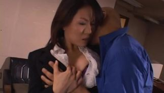 Stupefying busty Miki Sato whimpers like a floozy while riding a sausage