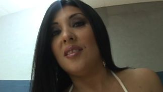 Glorious latin Jaylene Rio with firm mangos gets her gash licked and doggy styled