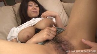 Slender bosomed Maria Mochizuki sucks phallus and gets drilled by stud