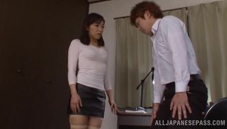 Startling Yukino Shindou with big tits gets her soaked love tube pounded