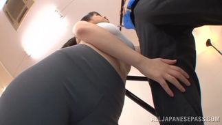 Astonishing breasty chick Anna Natsuki bangs with her brutal pussy tester