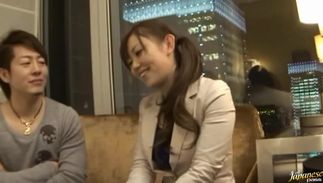 Sex appeal big boobed gf Mei Miura blows a large meat with vigor