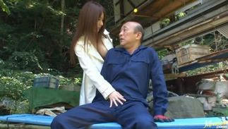 Worthwhile Miki Itoh with great tits spreads her legs wide to get screwed