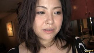 Lustful bosomed Azusa Omori and her lover team fuck wildly