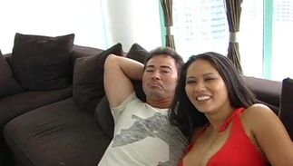 Lustful japanese Jessica Bangkok with great natural tits is getting team-fucked the way she didn't expect