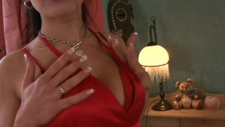 Heavenly girlfriend Giovana with biggest natural tits is a playful doxy that likes to get nasty