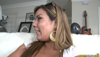 Sexual latin Vanessa with biggest tits gets screwed hard by a male