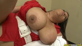 Cunt drilling for horny big breasted Lady Spyce