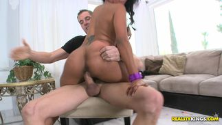 Pungent busty ebony honey Princess is not being bossy when she wants to have sex