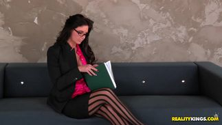 Frisky Phoenix Marie with curvy tits experiences a screaming large o while being mercilessly drilled