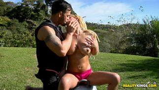 Wicked bosomed Carol Castro seduces a fucker with her sucking skills