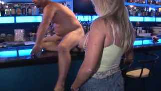 Adorable blond Crystina with impressive tits wants dude's schlong deep inside her muff