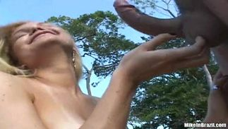 Seductive latin Valeska with massive tits enjoys riding a ramrod and reaches a biggest top