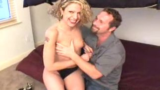 Amazing breasty blond floosy Anisa i loves fucking wildly with her boyfriend