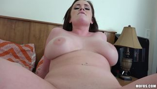 Horny Roxii Blair with giant tits knows what's good for fellow's throbbing beef bayonet